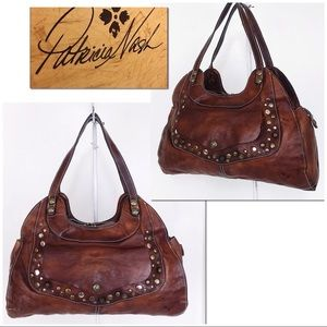 PN Intentionally Distressed Studded Ergo Satchel